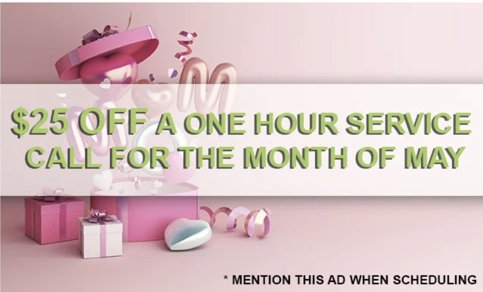 Putman and Son's Plumbing Mother's Day May 2021 Promotion
